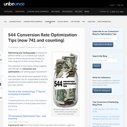 544 Conversion Rate Optimization Tips (now 741 and counting)