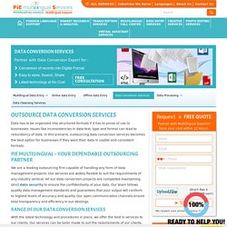 Outsource data conversion services, Data conversion outsourcing services