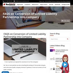 Conversion of Limited Liability Partnership into Company