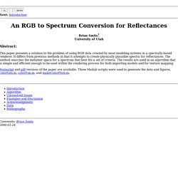 An RGB to Spectrum Conversion for Reflectances