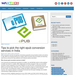 Best ePub Conversion Services in India