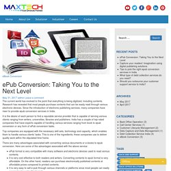 ePub Conversion Services in India