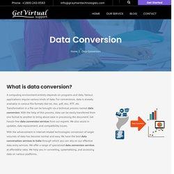 Data Conversion Company in India
