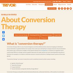 About Conversion Therapy – The Trevor Project
