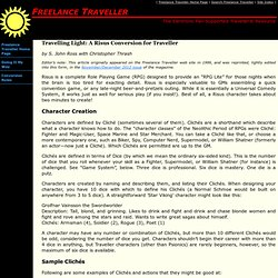 Freelance Traveller - Doing It My Way - Conversion Rules - Travelling Light: A Risus Conversion for Traveller
