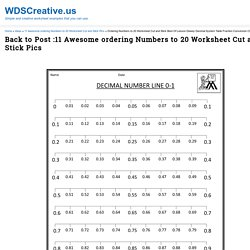 Ordering Numbers to 20 Worksheet Cut and Stick Best Of Lesson Dewey Decimal System Table Fraction Conversion Chart Tattoo