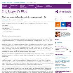 Chained user-defined explicit conversions in C# - Fabulous Adventures In Coding
