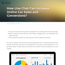 How Live Chat Can Increase Online Car Sales and Conversions?