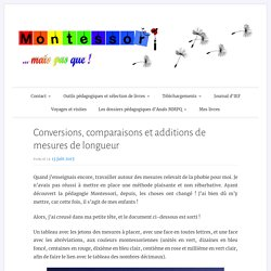 Conversions, comparaisons et additions de mesures de longueur – Montessori … mais pas que !