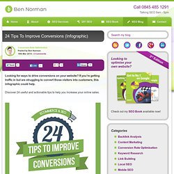 24 Tips To Improve Conversions Infographic