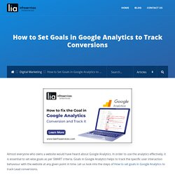 How to Set Goals in Google Analytics to Track Conversions - LIAINFRASERVICES
