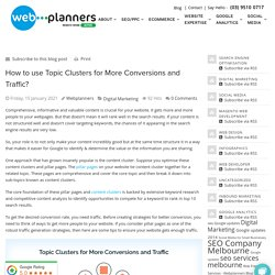 How to use Topic Clusters for More Conversions and Traffic? - Webplanners