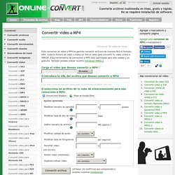 Conversor online de vídeo a MP4
