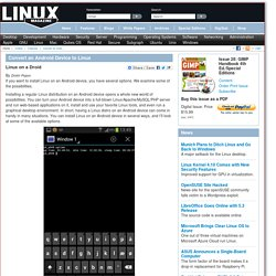 Convert an Android Device to Linux