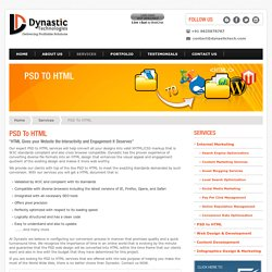 Convert PSD to HTML Conversion Service in India