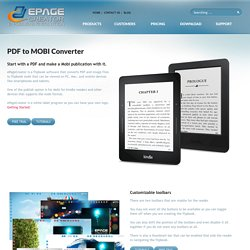 Pdf To Mobi - epagecreator