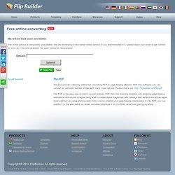 FREE online convert PDF to page-flipping eBooks. [flipbuilder.com]