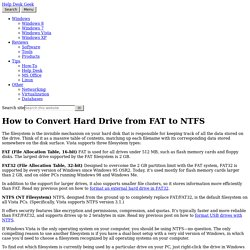How to Convert Hard Drive from FAT to NTFS