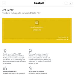 JPG to PDF - Convert your Images to PDFs online for free!