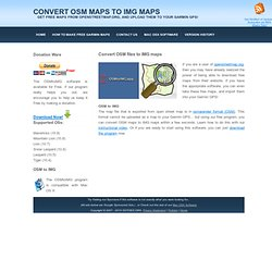 Convert OSM files to IMG files
