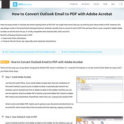How to Convert Outlook Email to PDF with Adobe Acrobat