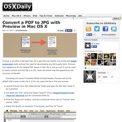 Convert a PDF to JPG with Preview in Mac OS X