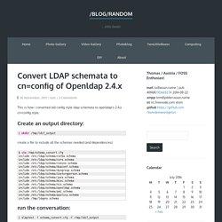 Convert LDAP slapd.conf to cn=config style