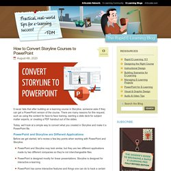 How to Convert Storyline Courses to PowerPoint