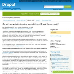 Convert any website layout or template into a Drupal theme - easily!