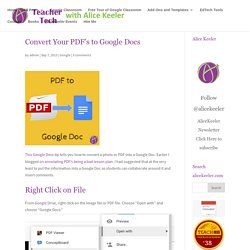 Convert Your PDF's to Google Docs