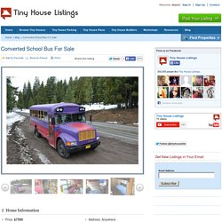 Converted School Bus For Sale