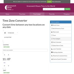 Time Zone Converter - compare time in any two places