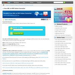 Free URL to PDF Online Converter - Converter anything from URL to PDF online conveniently