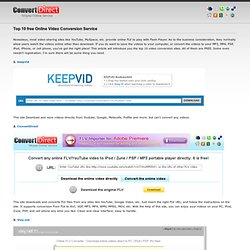 Online FLV Converter - Top 10 free Online Video Conversion Service