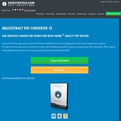 PDF Converter, Convert PDF to Word, Excel Conversion. Free Trial