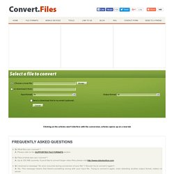 Convert Files - free online file converter and flash video downloader.Convert videos, audio files, documents and ebooks.Flash video to MP3