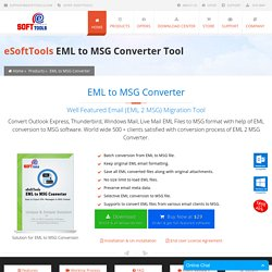 EML to MSG Converter Tool to Freely Export EML to MSG Files