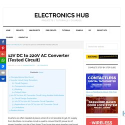 12v DC to 220v AC Converter/Inverter Circuit Design