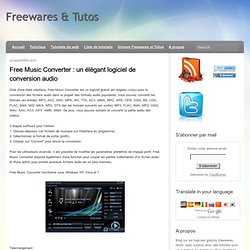 un élégant logiciel de conversion audio