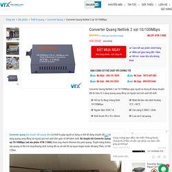 Converter Quang Netlink 2 sợi 10/100Mbps