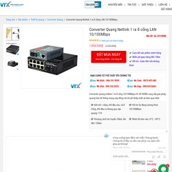 Converter quang netlink 1 ra 8 cổng 10/100Mbps HL-SF1008D