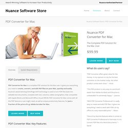 Nuance Software Store