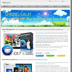 MacX DVD Video Converter - Mac DVD Ripper and iPhone iPad Video Converter software for Mac OS X
