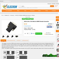 DVI-D 24+1 Pin Male to HDMI Female Converter [RPA24106R] - $2.50