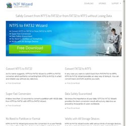 FREE NTFS to FAT32 Converter Software, Convert NTFS to FAT32 Easily