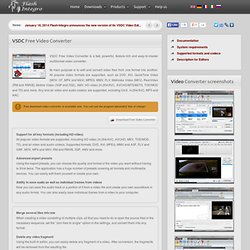 Free Video Converter: best software for converting video files easy and fast.