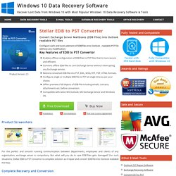 EDB to PST Converter Software to Convert Exchange EDB to Outlook PST