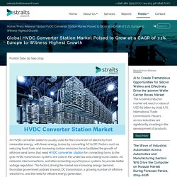 Global HVDC Converter Station Market Poised to Grow at a CAGR of 7.1%, Europe to Witness Highest Growth