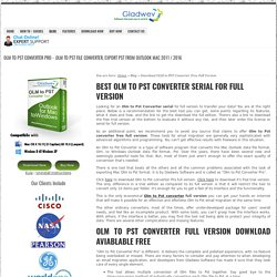 OLM to PST converter full version download