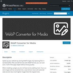 WebP Converter for Media – WordPress plugin